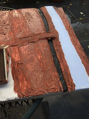 Farm, a little project (09) (Rinus H0) Tags: modelrailways modeltrains modelspoor modeltreinen modelleisenbahn scenery h0 187 landscape miniature miniatuur modelling modelbouw styrodur foam plaster styrene carton lasercut paint road mud