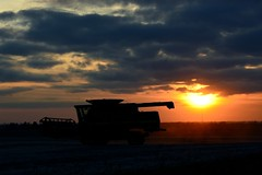 Monster of the Fields (Theresa*) Tags: farm field machinery equipment nikond7100 dekalbcounty illinois clouds