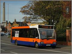 Centrebus 366 (Jason 87030) Tags: optare solo 63 2017 october northampton town northants county northamptonshire orange blue bus vehicle sony alpha ilce nex lens tag flickr shot wheels stjamesroad westbridge 366 yg52dfx