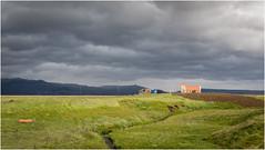 Iceland  . Landscape (:: Blende 22 ::) Tags: landscape iceland river island canoneos5dmarkiv ef2470f28liiusm europa north clouds cloudy wolken bewölkt blauer himmel bue sky red church