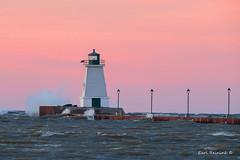 Morning has risen.. (Earl Reinink) Tags: mrning sun sunrise red sky water lighthouse waves wind lake portmaitlandlighthouse earlreinink toddhuaaia