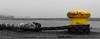 yellow bollard (klaus.huppertz) Tags: helgoland yellow ck colourkey colorkey kette chain gelb hafen harbour bollard nikon nikkor nikond750 d750 rope seil colourkeying selectivecolour 2470mmf28g