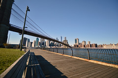 Brooklyn Bench (mattb105) Tags: new york skyline brooklyn bridge bench view city cityscape landscape river