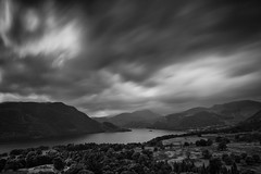 Passing (Future-Echoes) Tags: 4star 2014 bw blackandwhite cloud cumbria hills lake landscape longexposure mountains thelakedistrict ullswater valley