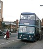 03-77 HWW763J  Daimler CRG6LX at Christ Church Doncaster (dubdee) Tags: blueline hww763j doncaster daimlerfleetline roe christchurch daimlercrg6lx