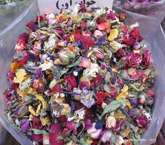 Dried colourful flower petals - Tajrish Bazaar - Tehran Iran (WanderingPhotosPJB) Tags: marketsbazaars iran tehran market tajrishbazaar flower petals dried multicoloured 7dwf