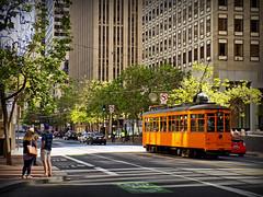 Springtime at Market Street, San Francisco (Cad-Kyiv) Tags: sanfrancisco california street streetcar tram