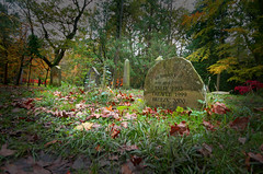 IMG_0646 (bob_rmg) Tags: perrow arboretum tree autumn colour leaves bedale thorp pet cemetery memorial stone grave