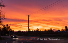 Colors of the Sky at Sunrise, Surrey BC (PhotoDG) Tags: sun sky color cloud street city cityscape surrey metrovancouver fraservalley mtbaker baker