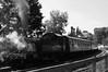 Highley Station Nostalgia (Heaven`s Gate (John)) Tags: highley station steam train smoke black white johndalkin heavensgatejohn severnvalleyrailway england nostalgia trees