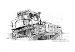 Tenby02s (Stefan Marjoram) Tags: car sketch vintage art drawing watercolour