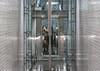 HIGH SPEED (henny vogelaar) Tags: netherlands rotterdam metro metrostation station elevator people speed color glass steel blijdorp architecture