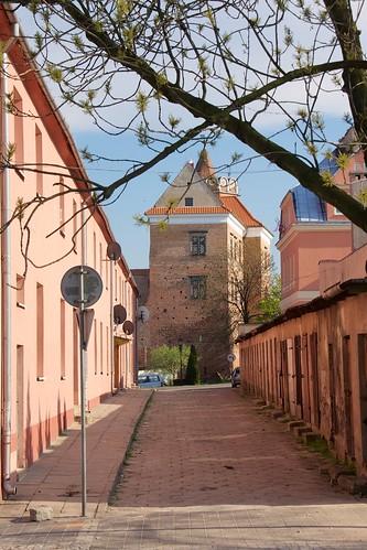 Zamek królewski w Łęczycy od północy