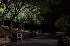 Soledad en el parque (RuthRodriguezTF) Tags: soledad solo loneliness parque park city ciudad noche night fincaespaña tenerife pueblohinojosa islascanarias canaryislands banco bank