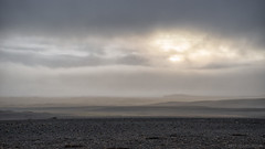 These fields of nothingness (OR_U) Tags: 2017 oru iceland widescreen 169 landscape nothingness volcanic barren rough nature mist fog weather autumn fall cloudsofficial clouds minimalism hills soft ambience sun