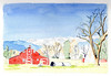 New Discovery (lwdphoto) Tags: lance duffin lanceduffin louisvillecolorado colorado sky barn trees mountians farm house watercolor painting architecture art