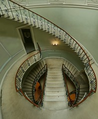 The Nelson Stair (elektron9) Tags: london england uk unitedkingdom destinations vacations island british greatbritain brit somersethouse stairs architecture stair landmark famousplaces moviesets staircase limegreen navyblue
