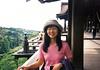 Naomi in Kyoto (sjrankin) Tags: july1999 japan film scanned family kiyomizudera kyoto