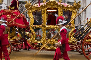 Lord Mayor's State Coach arriving at the Royal Courts of Justice, Lord Mayor's Show, London, 11 Nov 2017