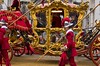 Lord Mayor's State Coach arriving at the Royal Courts of Justice, Lord Mayor's Show, London, 11 Nov 2017 (chrisjohnbeckett) Tags: lordmayor london londonist timeout statecoach procession lordmayorsshow street urban ceremony tradition red gold royalcourtsofjustice canonef24105mmf4lisusm chrisbeckett photojournalism documentary carriage pike costume uniform
