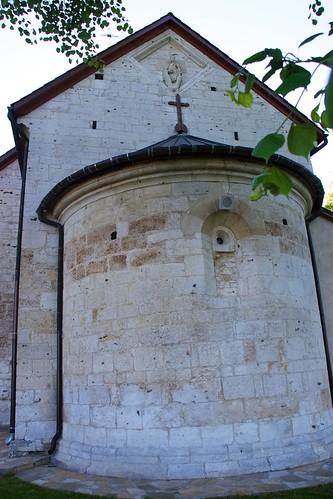 Absyda prezbiterium kościoła św. Mikołaja w Wysocicach