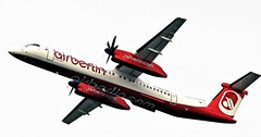 D-ABQK AIR BERLIN DASH 8 NEWCASTLE (toowoomba surfer) Tags: airline airliner aviation aircraft aeroplane ncl egnt