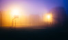Another Foggy Morning (marcin baran) Tags: fuji fujifilm fujix100 x100 x100t gliwice poland polska color colour fog foggy mist misty weather mood moody atmosphere light lamp dar darkness dawn court empty mysterious mysrery mystery street streetphotography urban