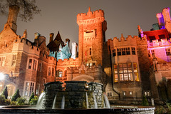 Day 319: Casa Loma in the rain (Antonio Cangiano) Tags: toronto ontario canada ca day319 365 365project project365 redditphotoproject picoftheday okanaganphotographer casaloma monument history historic historical vintage architecture fountain nightshot longexposure night orange canon canoneos canonphotographer