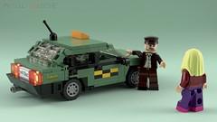 "Lada-21099 ""Sputnik"" Taxi Cab [2] (initial_dvache) Tags: ldd lego ble blender mecabricks car 6wide lada"