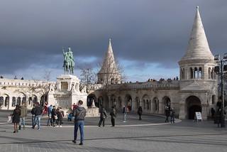 Budapest fishermna bastion castle side