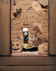 Halloween Cat (Lucy Whitebat) Tags: halloween monsterhigh doll dolls osalina mattel photo photos mh 2017 monsterhigh2017 photoshoot meowlody purrsephoneandmeowlody werecat cat twins ghoulspirit