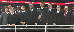 Seminarians and Sr. Josephine gather at Ford Field (Detroit) before the Mass and Beatification of Fr. Solanus Casey on November 18, 2017.