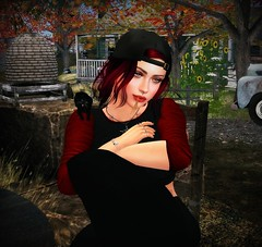 Country lovin (Spanky SL) Tags: picture photo person country hay wheat bees truck red black hat hair kittycats trees autumn flowers house table chair avatar secondlife flickr catwa bento maitreya rebellion lamb chicmoda letre cat kitten bengal