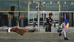 Nap Time During Youmacon (FrogLuv) Tags: videogames detroitmichigan cosplay anime costume gmrenaissancecenter comicbook convention onthebench youmacon2017