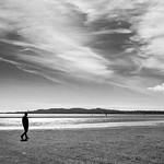 Lonely walk - Dublin, Ireland - Black and white street photography thumbnail