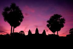 A symmetry (ajecaldwell11) Tags: sunrise ankh purple dawn buildings xe2 fujifilm light morning silhouette siemreap angkorwat sky clouds cambodia caldwell temple wat