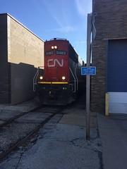 Tom Burke Photo 16th Avenue IC-CN East Belt Rockford IL Nov. 22 2107 #1 (Tom J. Burke) Tags: cn ic rockford railroad train illinoiscentral