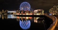 Science World (luke.me.up) Tags: nikon d850 vancouver night nightphotography falsecreek scienceworld