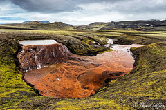 on the red spring (funtor) Tags: spring mountain landscape iceland nature color light green water