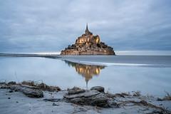 Mont Saint-Michel (SimeonBaker) Tags: mont saint michel france sunset water reflection