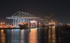 Night Crane (hp181san) Tags: nautical maritime sonyalpha sonya7r2 houston availablelight lowlight nightphotography night container shipcontainer barbourscut portofhouston houstonshipchannel containercranes cranes