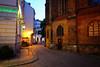 Evening in Berlin, Germany (` Toshio ') Tags: toshio nikolaikirche berlin germany europe european europeanunion church street evening city fujixe2 xe2 cobblestone restaurant