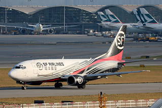 SF Airlines B737-300F B-2598 taxiing for departure at HKG/VHHH