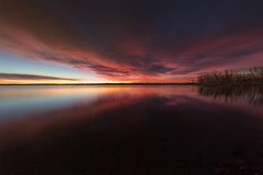 A New Day (mclcbooks) Tags: sunrise dawn daybreak beach lake reflections clouds longexposure le lakechatfield chatfieldstatepark colorado landscape