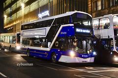 Lothian Buses 588, SJ67MHA. (EYBusman) Tags: lothian regional transport buses bus coach municipal edinburgh city centre scotland brand new wright streetdeck b5lh diesel electric hybrid sj67mha eybusman