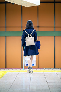 Girl on metro station