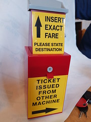 So I bought this farebox moneybox from China and... (WMT6832TWM3053) Tags: wmpte farebox moneybox exact fare 6832 fleetline metrobus mcw daimler leyland west midlands pte autofare wayfarer ticket machine control systems