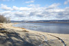 early December in Constance Bay (Barbara A. White) Tags: constancebay landscape ottawariver december sand snow shadows clouds gatineauhills riverscape