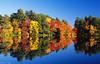 Fall in Rhode Island (Dean OM) Tags: fall foilage color water film landscape still fuji velvia50 velvia 50 olympus om 40mm