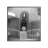 Egyptian prince-Western Ave (tomusan) Tags: film flippedlens bw blackandwhite browniehawkeye brownie kodak400 trix prince egyptian statue